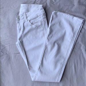White Denim Flare Hudson Jeans